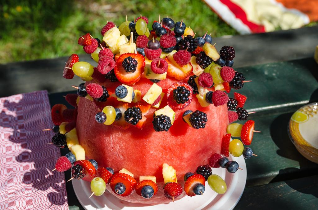 Melonenkugeltorte